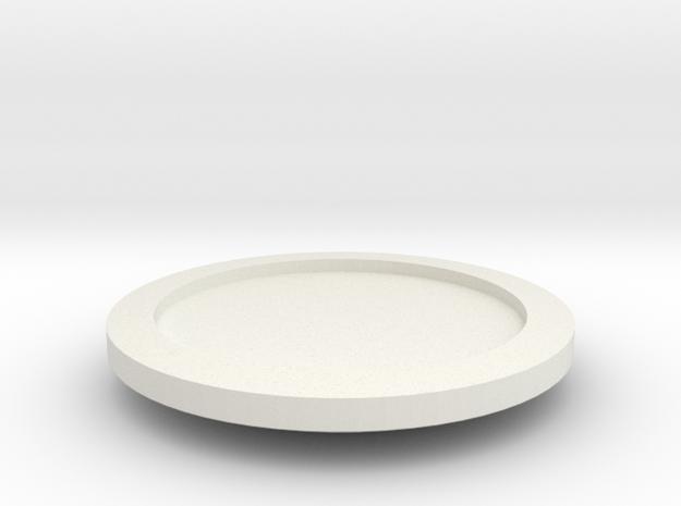 Gungi Game Piece Blank in White Natural Versatile Plastic