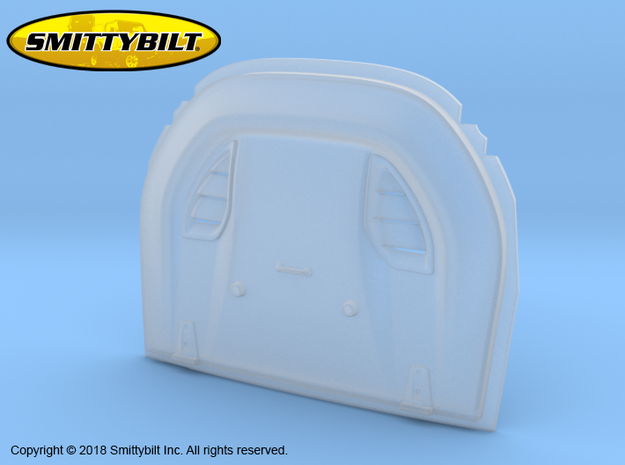 BR10011 Smittybilt Stingray Hood vent in Smooth Fine Detail Plastic