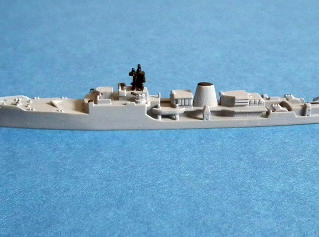 HMS Exmouth F84 in Smooth Fine Detail Plastic: 1:1250