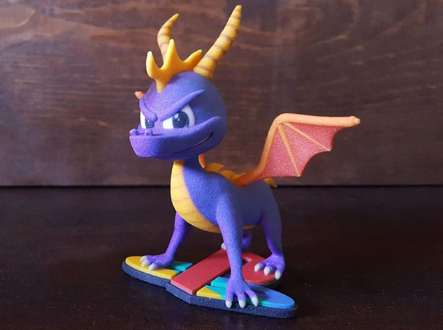 Spyro The Dragon in Natural Full Color Sandstone