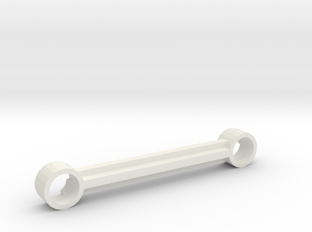 LEGO BALL LINK 0 X 42MM CTR-CTR in White Natural Versatile Plastic