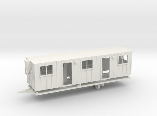 Construction Trailer Double Door 1-87 HO Scale