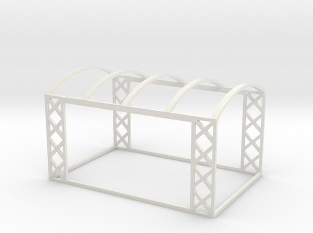 On30 Open-Air Rail Car Frame in White Natural Versatile Plastic