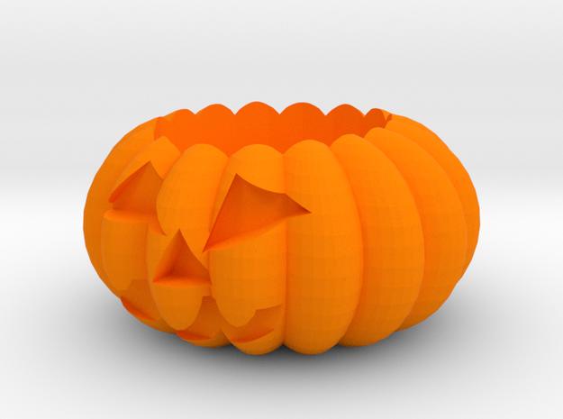 Potted plant in Orange Processed Versatile Plastic