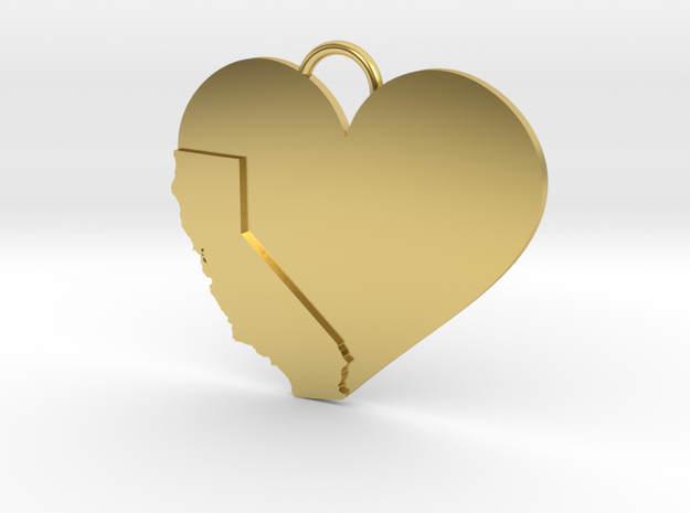 California Heart in Polished Brass
