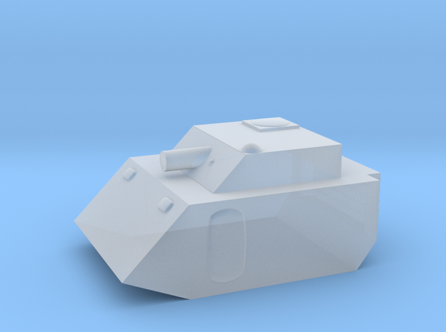 Fox2 Small Grav Tank 1:100 15mm in Smoothest Fine Detail Plastic
