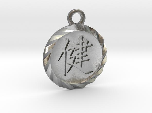 Kanji Health Pendant in Natural Silver
