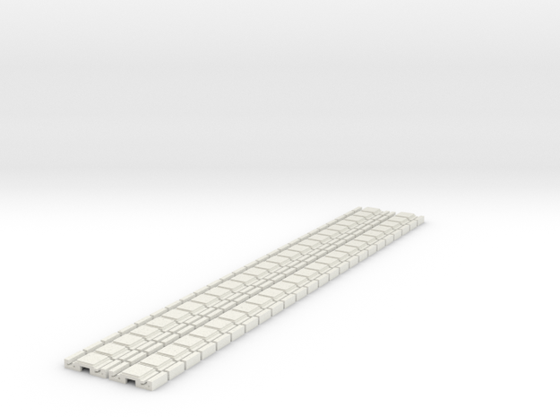 p-9stg-slim-flexi-tram-track-100-x48-1a in White Natural Versatile Plastic