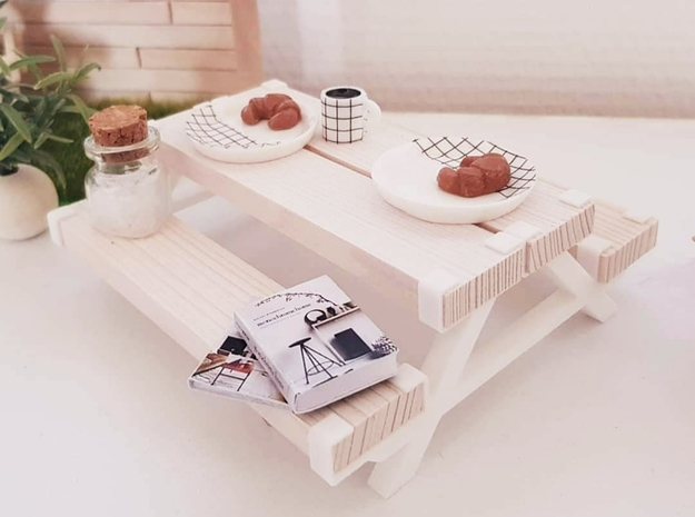 Adapters for picnic table in White Natural Versatile Plastic