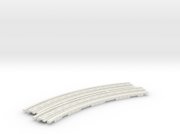 p-65stw-curve-tram-long-115r-100-w-2a in White Natural Versatile Plastic