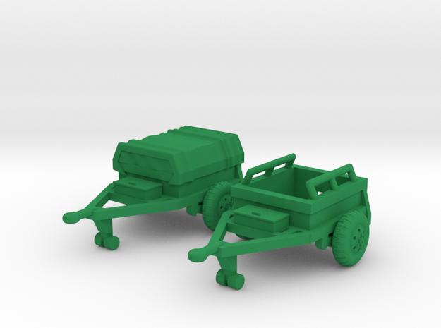 M332 Ammo Trailer in Green Processed Versatile Plastic: 1:160 - N