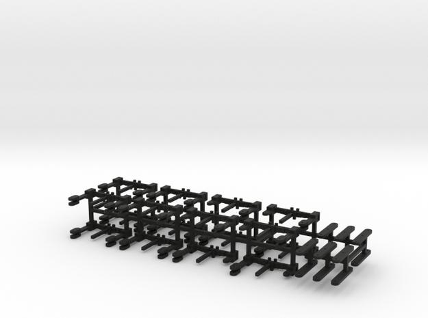 HO Scale Reading T1 suspension parts in Black Natural Versatile Plastic