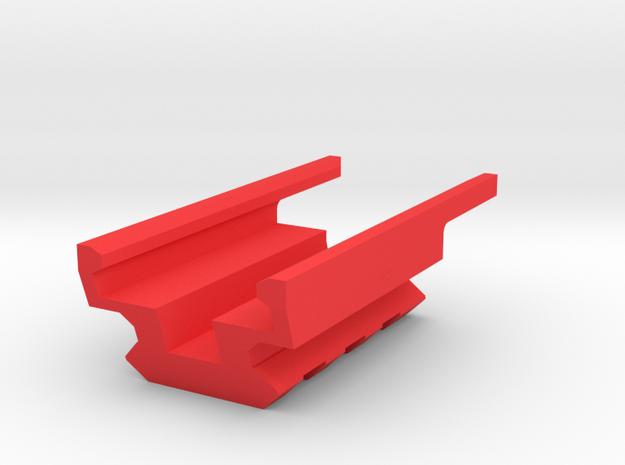 3-Slots Bottom Picatinny Rail for USP Pistol in Red Processed Versatile Plastic