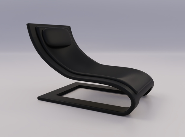 Chair Baby Design 1 in Black Natural Versatile Plastic