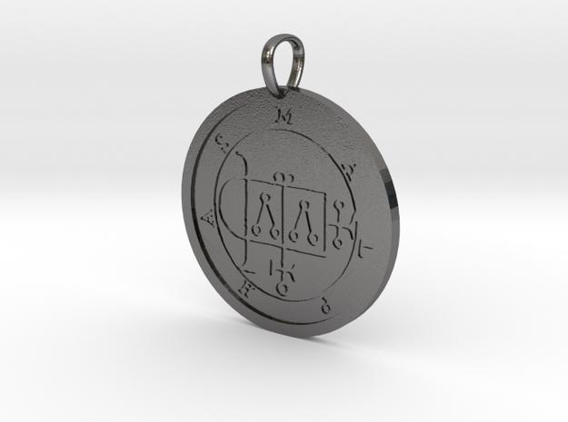 Malphas Medallion in Polished Nickel Steel