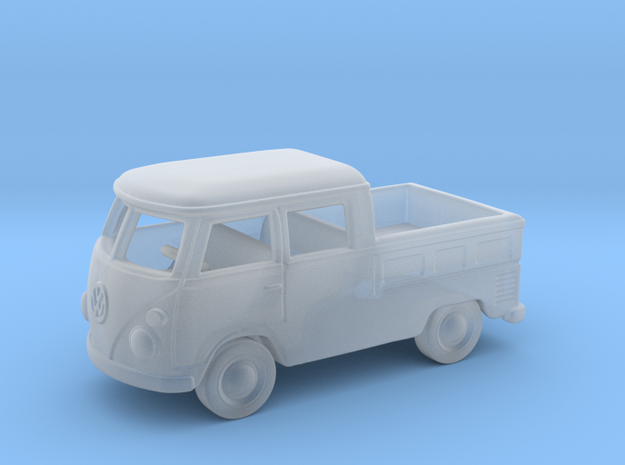 VW Bus Crew Cab  1:87 HO in Smooth Fine Detail Plastic