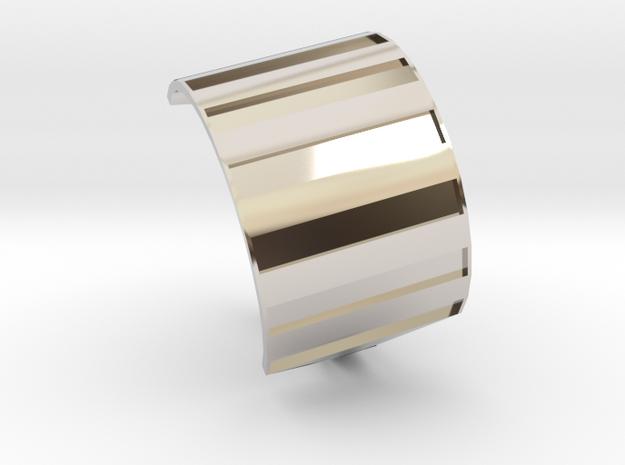 Shield ring in Rhodium Plated Brass