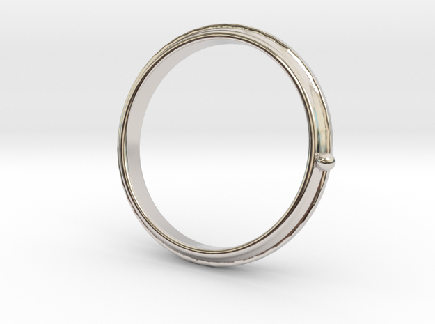 To the moon ring in Rhodium Plated Brass