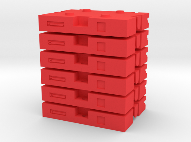 31000 cast counterweight - 6pack  in Red Processed Versatile Plastic