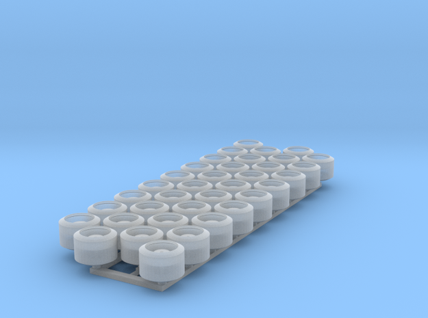 (36) WIDE TRACKED TRACTOR ROLLERS in Smooth Fine Detail Plastic