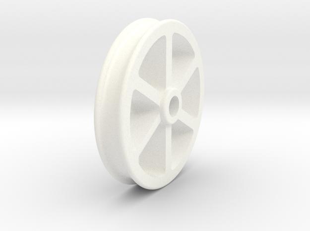 NRW01a Nantlle Railway Wagon Wheel, Single 16mm in White Processed Versatile Plastic