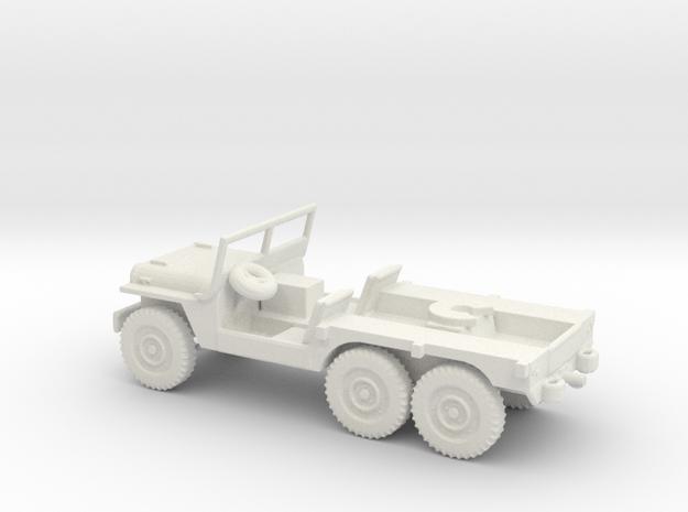 1/87 Scale 6x6 Jeep MT Tug in White Natural Versatile Plastic