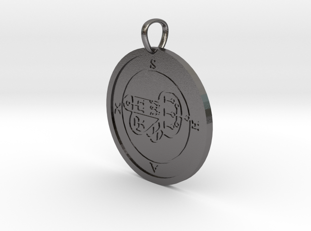 Shax Medallion in Polished Nickel Steel