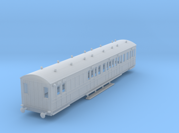 o-148fs-rhymney-brake-3rd-two-open-saloon-coach in Smooth Fine Detail Plastic