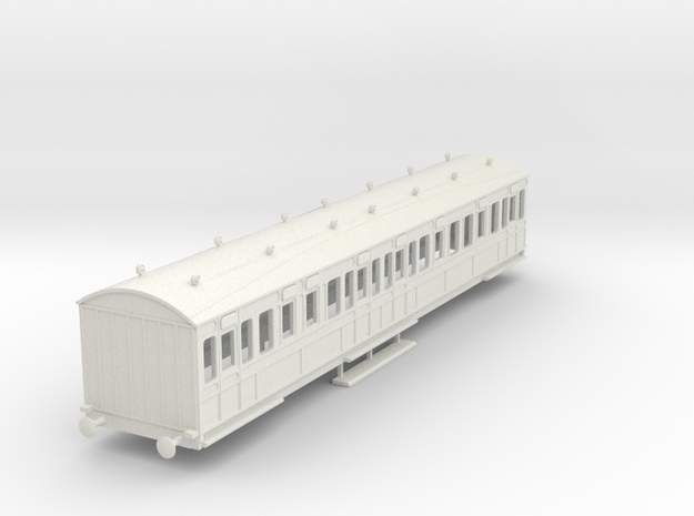 o-87-rhymney-railway-3rd-two-open-saloon-coach in White Natural Versatile Plastic