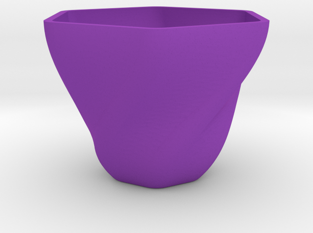 Morning Glory Memory Tea Cup in Purple Processed Versatile Plastic: Extra Large