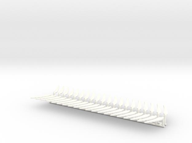 DIMITRIS 9 FEATHERS  in White Processed Versatile Plastic