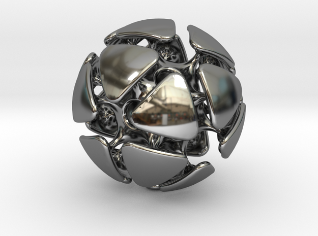 ICOSHELL in Fine Detail Polished Silver