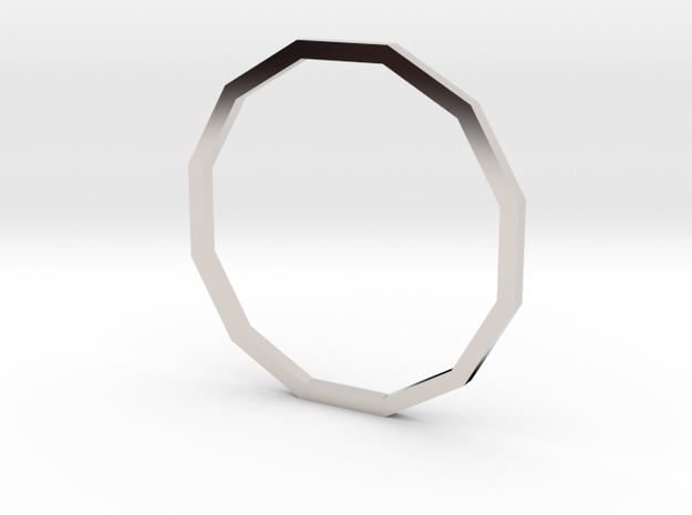 Dodecagon 18.53mm in Platinum