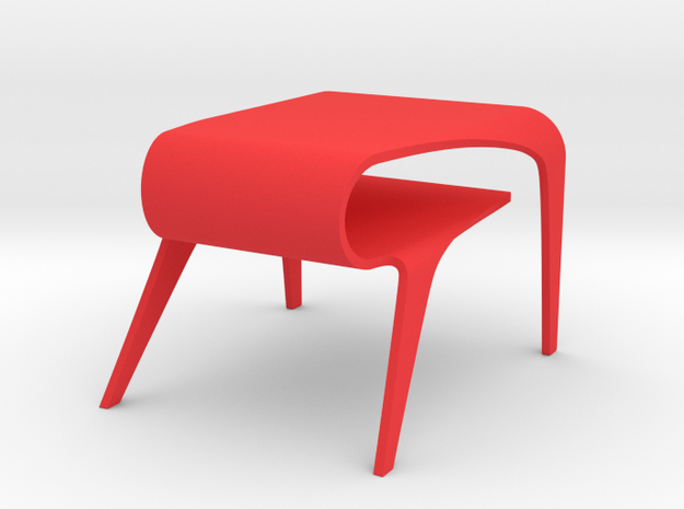 Miniature Cuda Table in Red Processed Versatile Plastic