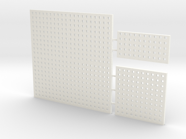 Deck Plate Group in White Processed Versatile Plastic
