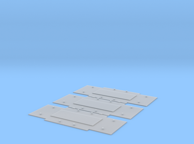 Baseplates for Bedford axleguards, 11ft w/b in Smooth Fine Detail Plastic