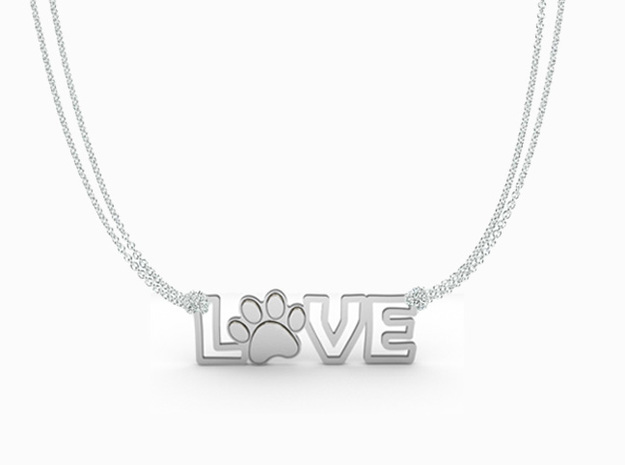 Unconditional Love III Pendant in Polished Silver