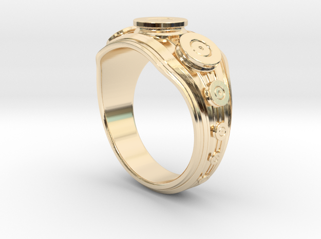 Bullet Ring in 14K Yellow Gold: 8 / 56.75