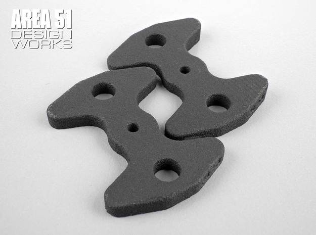 Wing Angle Shim Set in Black Natural Versatile Plastic