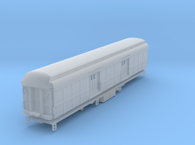 N-scale (1/160) PRR B60 Baggage Car Clerestory Roo in Smooth Fine Detail Plastic