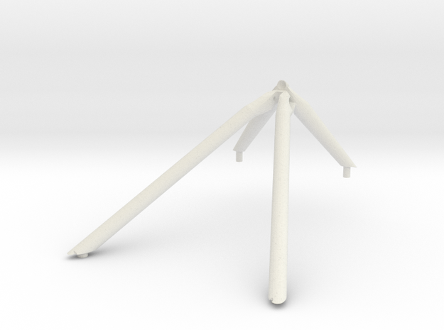 J mission -Z landing gear outrigger in White Natural Versatile Plastic
