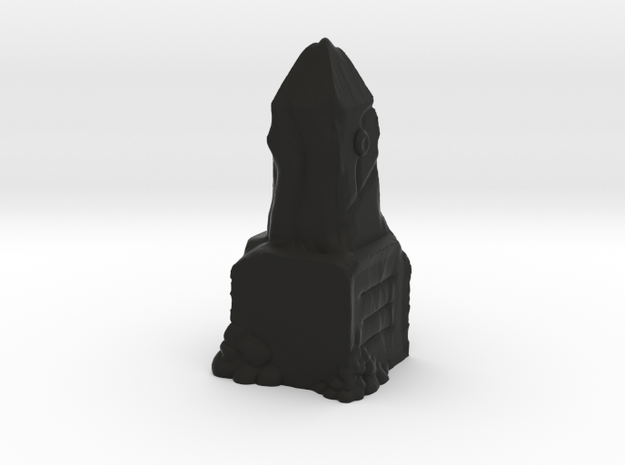 Ancient Dwarven Obelisk (28mm Scale Miniature) in Black Natural Versatile Plastic