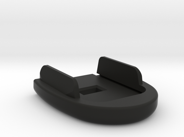 Rounded and Tapered Basepad for SIG P320 - Square  in Black Natural Versatile Plastic