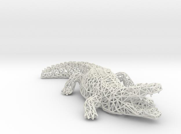Wireframe crocodile