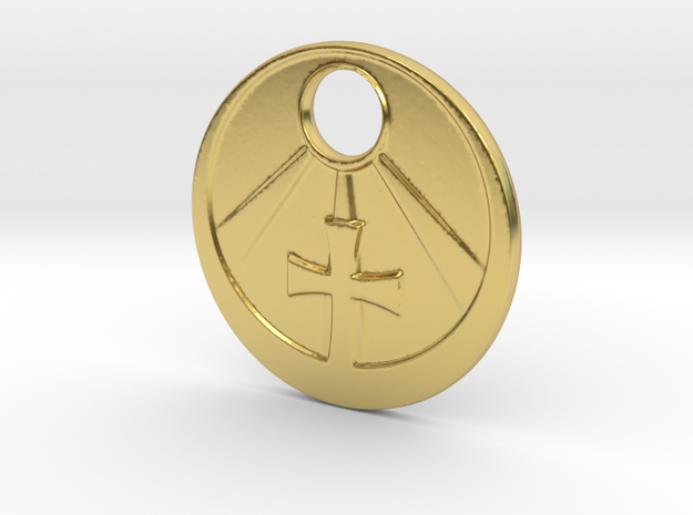 Light Upon The Cross in Polished Brass
