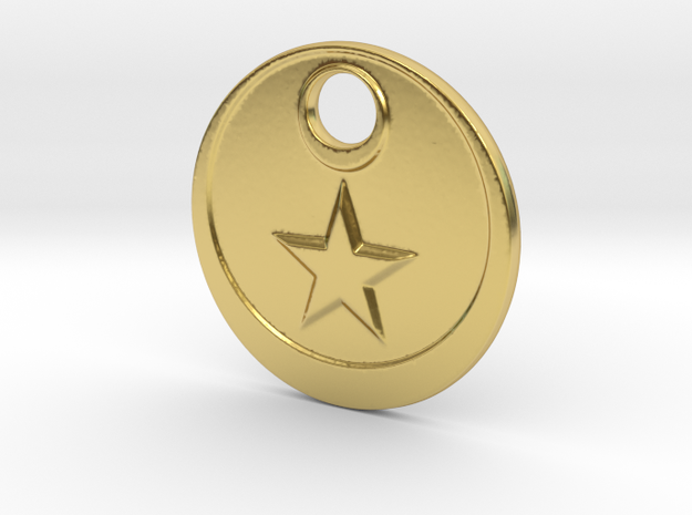 The Star in Polished Brass