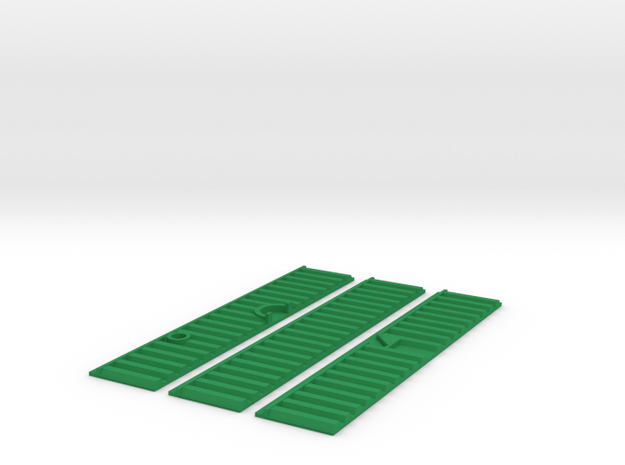 Kanalwand 100 x 20 mm Abflussrohre in Green Processed Versatile Plastic