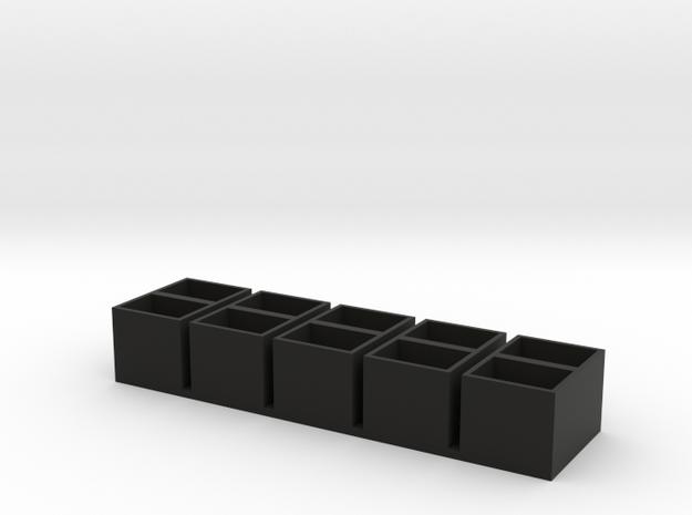 dual long 11x15x14 speaker box qty5 in Black Natural Versatile Plastic