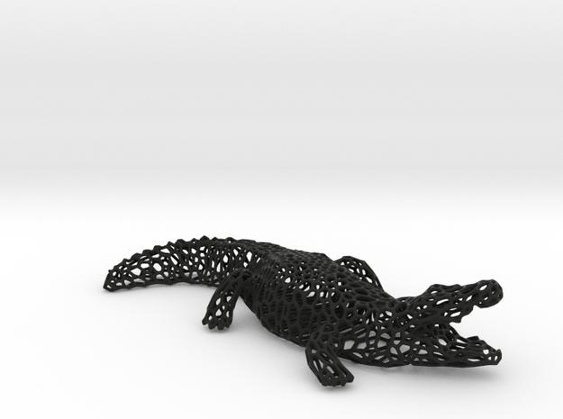 CROCODILE in Black Natural Versatile Plastic