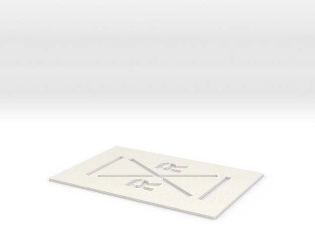 Railroad Crossing Template (HO) in White Natural Versatile Plastic: 1:87 - HO